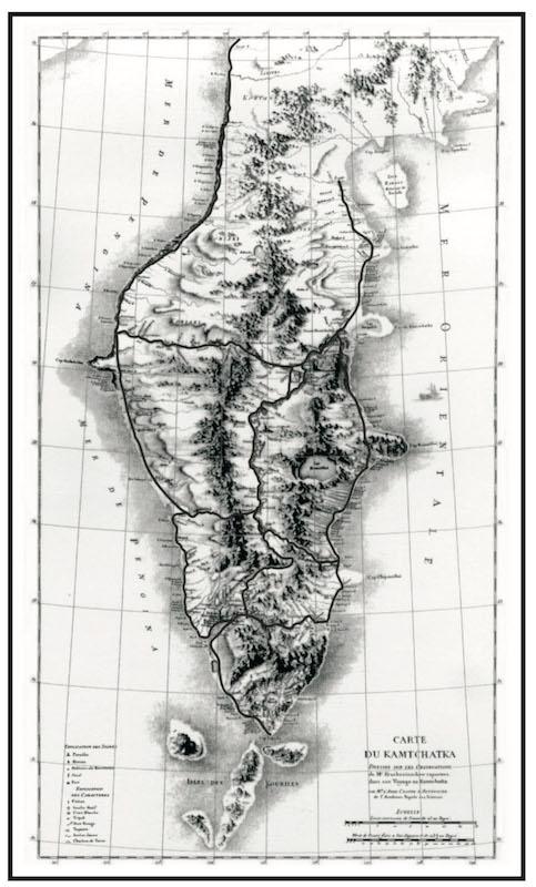 Карта аббата Жан Шаппа д'Отероша