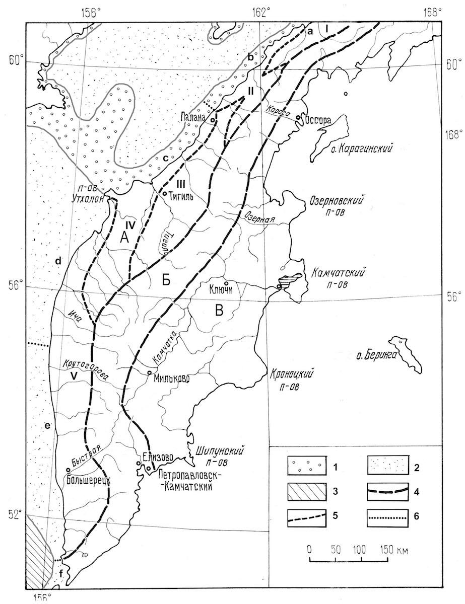 Схема ландшафтного районирования Западной Камчатки